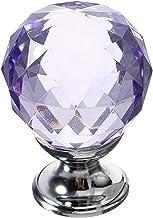 Handvatten 30mm Diamond Crystal Knop kast deur lade kast Pull handvat voor deur kast kast knoppen meubels (maat: 30mm; kle...