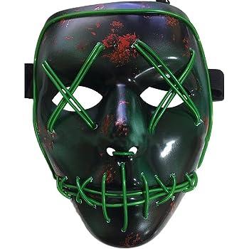 Knowing LED Máscaras Adultos Cosplay Sin Batería con 4 Modos para ...