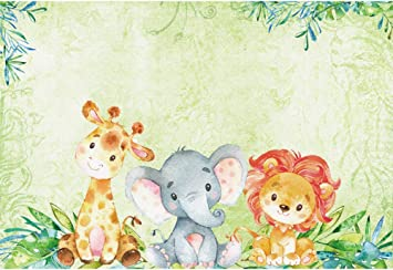 10x10FT Vinyl Backdrop Photographer,Animal,Illustration of Giraffes Background for Baby Shower Bridal Wedding Studio Photography Pictures