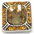 Interchangeable Mini 12mm Snap Jewelry Amber Designer Square My Prime Gifts