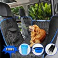 ?Upgraded Version? Dog Seat Cover for Back Seat, 100% Waterproof with Mesh Window, Scratch Proof Nonslip Dog Car Hammock, Car Seat Covers for Dogs, Dog Backseat Cover for Cars Trucks SU
