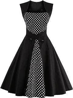 Women's Polka Dot Retro Vintage Style Cocktail Party Swing Dresses