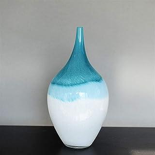 現代ガラスの花瓶北ヨーロッパ風の色のガラス工芸品手仕事クリエイティブアート花花瓶のためにキッチンテーブルオフィスリビングルームビジネスオフィスホームデコレーションウェディングフラワーアート飾り (Size : M)