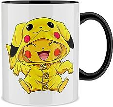 Okiwoki Mug avec Anse et intérieur de Couleur (Noir) - Parodie Pokémon - Pikachu Cosplayé en. Pikachu ! - Imbattable dans ...
