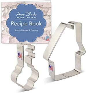 Ann Clark Cookie Cutters 2-Piece Real Estate Cookie Cutter Set with Recipe Booklet, House and Key