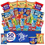 My ​College​ Crate​ ​Microwave​ Snack Care Package - ​50 Piece​ Bulk Variety Pack Box...