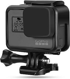 gopro hero5 hero6 hero7(2018)専用保護フレームケース 第2世代の光沢のあるコンパクトな保護フレーム+シリコンレンズカバー+反ロストロープ+反ロストグルー複数の保護 直接充電設計遅れた使用 スポーツカメラアクセサリー