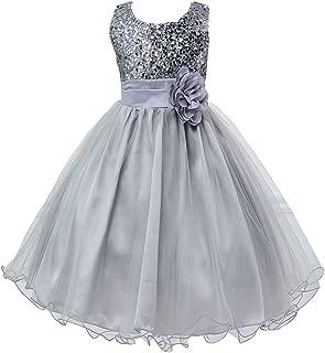 Áo quần dành cho bé gái – Girl Kid Princess Wedding Bridesmaid Party Formal Sequin Ball Gown Dress