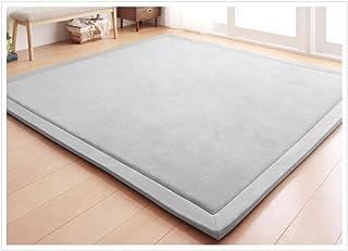 Coral Velvet Area Rugs Play Mat Carpet Crawling Mat for Nursery Baby Toddler Children Kids Room,Yoga Mat Exercise Pads(Gra...