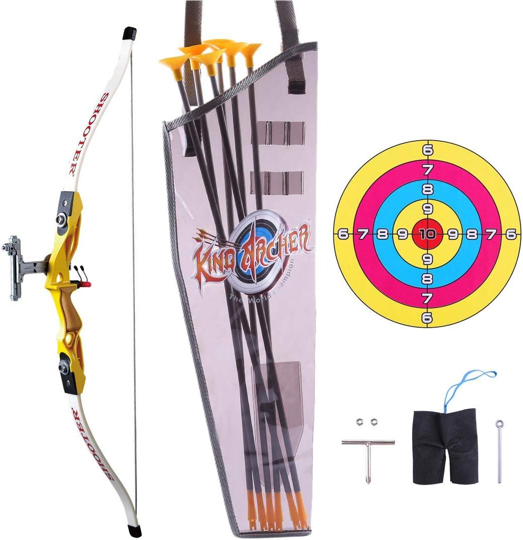 Sunbary Pfeil Und Bogen Set Kinder Bogenschie/ßen Spielzeug Schie/ßspiele Mit 6 Starken Saugnapfpfeilen Und Zielscheibe f/ür ab 5 Jahre