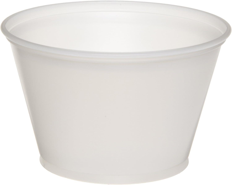 Dixie P055TRANSLUC Translucent Plastic Souffle Cup, 5.5oz Capacity (12 Packs of 200)