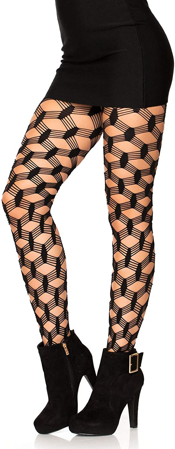 Leg Avenue Professional Fishnet Tights With Comfort Sole /& No Role Waist Band