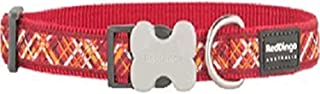 Red Dingo L6-FN-RE-15 Flanno Dog Collar, Small-Medium, Red