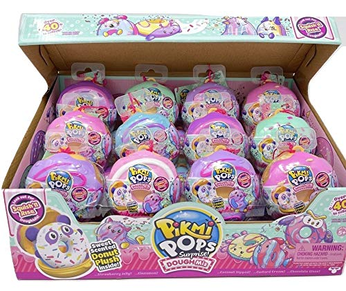 Pikmi Pops DoughMis - (3pcs in a Pack) Collectible Scented Medium Plush Toy in Medium Donut with Surprises + Collectors Guide - Assorted Style