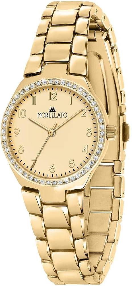 Morellato ,orologio analogico al quarzo per donna,in acciaio inossidabile,pvd giallo R0153157502
