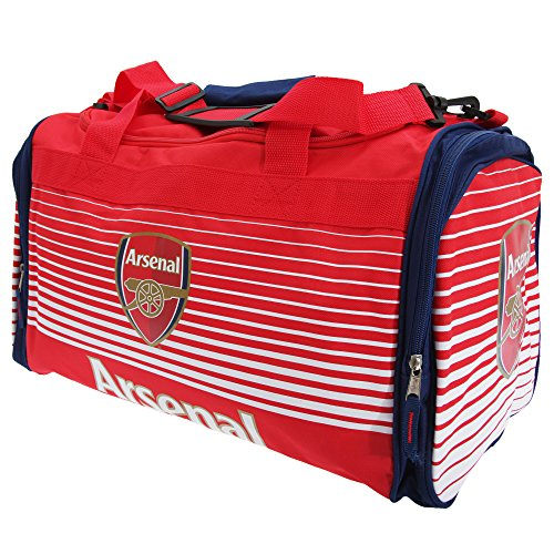 Arsenal FC Football Holdall Bag Team Luggage Red White Fade Design Official