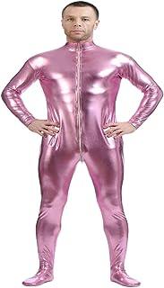Colcolo フルボディスーツセカンドスキンスーツフルボディコスチューム衣装キャットスーツコスチューム。 - ピンク, XXL
