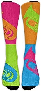 Hunter qiang, Comfort Athletic - Calcetines para mujer de los años 70, estilo retro, transpirables, hasta la rodilla, largo: 50 cm
