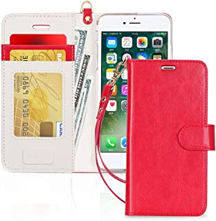 "FYY Case for iPhone 8/iPhone 7/iPhone SE 2020 4.7"",[Kickstand Feature] Luxury PU Leather Wallet Case Flip Folio Cover with..."