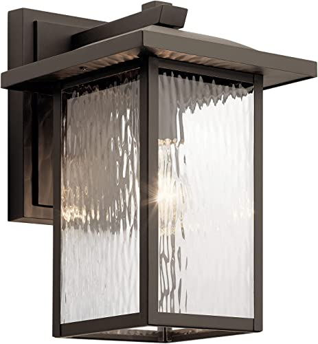 """popular Capanna outlet online sale 13.25"""" 1 Light Outdoor Wall Light with Clear Water Glass in Olde lowest Bronze outlet online sale"""