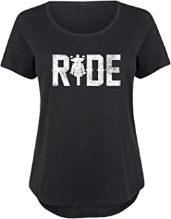 Ride Motorcycle - Ladies Plus Size Scoop Neck Tee