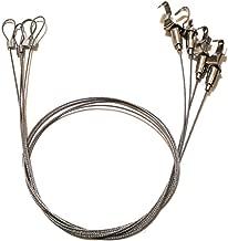ピクチャーレール用 ステンレスワイヤー 吊り下げ金具 シルバー 4本セット (0.5m フック1個)