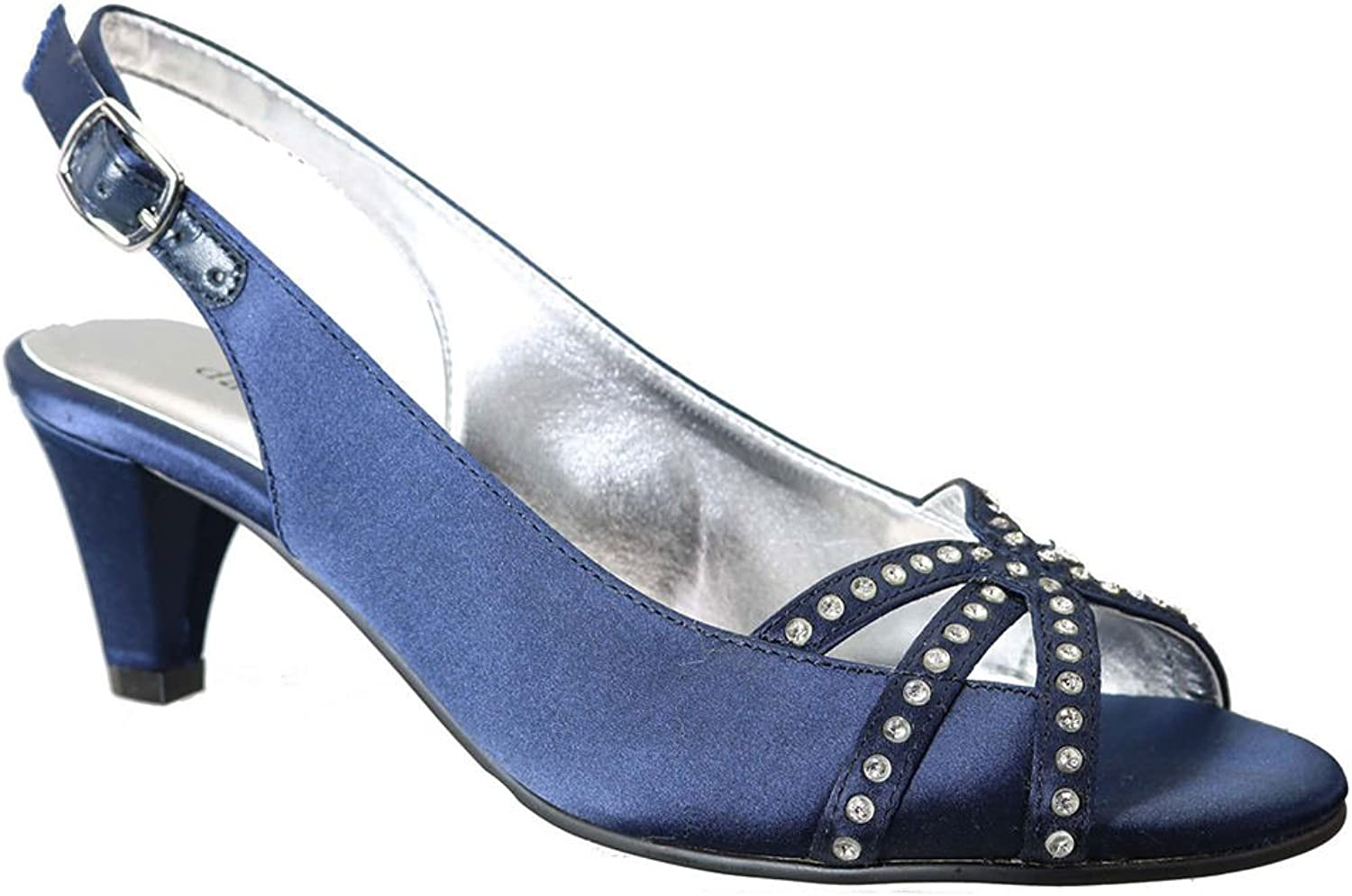 David Tate Womens Regal Open Toe Ankle Strap D-Orsay Pumps