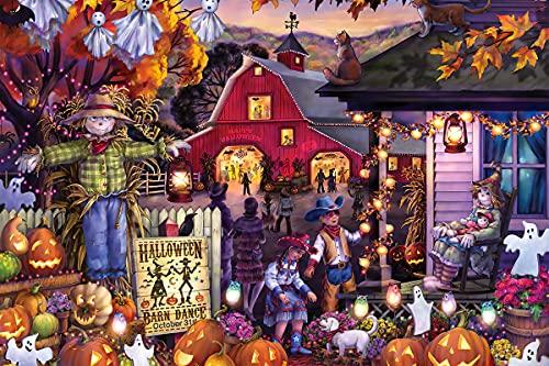 Puzzle de 1000 piezas para adultos, de madera, con letras en la parte posterior, 75 x 50 cm, imposible para cumpleaños, Navidad, Halloween