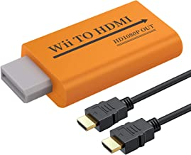 AUTOUTLET Wii to HDMI Converter 1080P with 3.5mm Jack Audio, Wii2HDMI with 1M HDMI Cable All Wii Display Modes for Nintendo NTSC, 720P, PAL, 576i