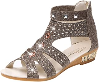 90210d11888b9c Amazon.com  Gold - Sandals   Shoes  Clothing