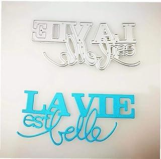 Byfri Mot Français Lettre Dies Metal Cutting Dies Alphabet Craft Die pour Le Scrapbooking Carterie Fournitures De Style Al...