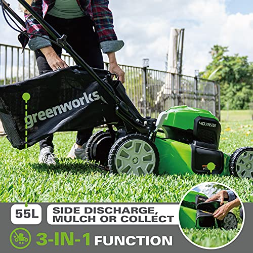 Greenworks GD40LM46SPK2x Safety Features