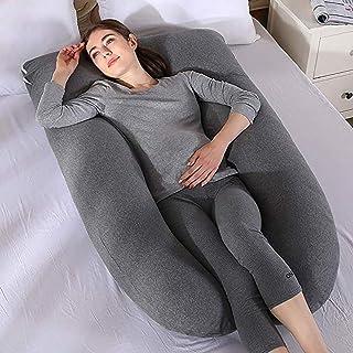 ZXCVBNM Maternity Pillow, Maternity Support Pillow, Pregnancy Pillow, Pregnancy Support U Pillow, Nursing Pillow, Extra Large U Shape Pillow and Lounger Gray 70x130cm