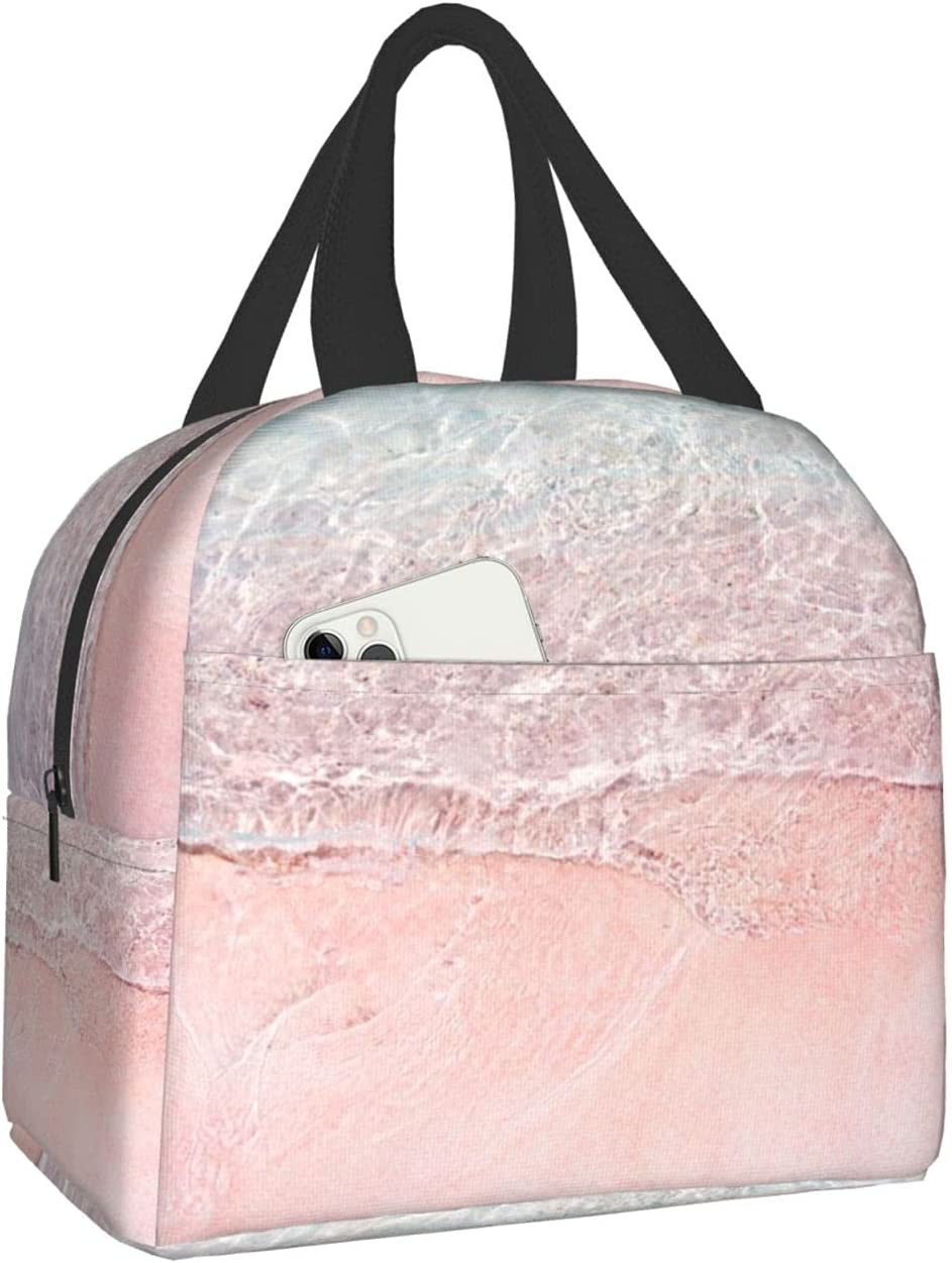 Pink beach Oxford fabric portable unisex bag lunch Popular products por Limited price thermal