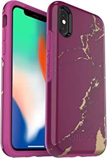 OtterBox Symmetry Series Case for iPhone Xs & iPhone X - (Purple Marble)