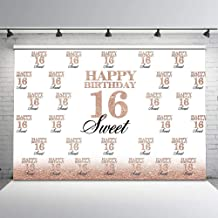 personalized backdrop for sweet 16