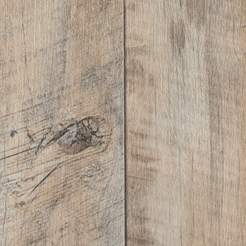 BODENMEISTER BM70400 Vinylboden PVC Bodenbelag Meterware 200, 300, 400 cm breit, Holzoptik Diele Eiche creme weiß