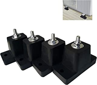 JIANZHENKEJI Air Conditioner Mounting Rubber Pads Bracket Use for Outdoor Units Mini Split & HVAC & Central Air Conditioner Condensers   Machine Shock Absorber Bracket(Pack of 4) (Ltem 1)