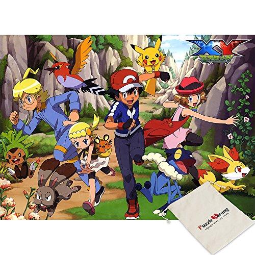 Impuzzle Pokemon, Run and Run - Puzzle de 100 Piezas, Tamaño Grande, Incluye Bolsa