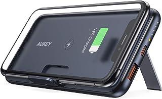 AUKEY Power Bank Wireless 10000mAh, Caricabatterie Portatile con Pieghevole Piede di Supporto, Power Bank con PD 3.0, Quic...