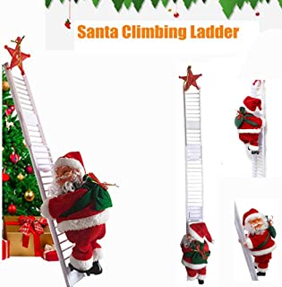 mr. christmas santa climbing ladder