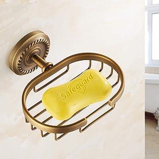 European soap Dish soap Box Antique soap Holder soap Box Copper Bathroom Accessories Cover net Soap Saver Box Case for Bat...