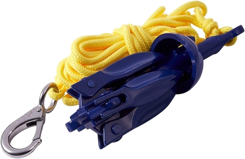 Color : Blue HXF Hxfang/® 4-Tine G Boats Ancla Plegable Peque/ño Bote Anclaje Kit de Cuerda Marina para Kayak Canoa Barco Marino Velero de navegaci/ón Pesca de la Pesca Acc