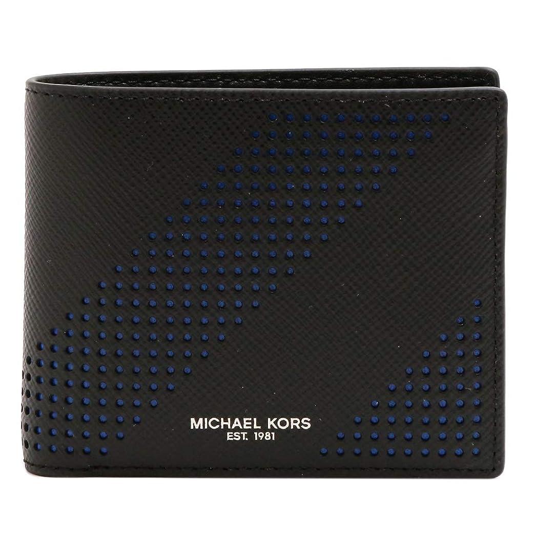 バーマドやむを得ない水分[マイケルコース] MICHAEL KORS メンズ 2つ折り財布 小銭入れ付き 39S7LHRF3T 001 BLACK ブラック