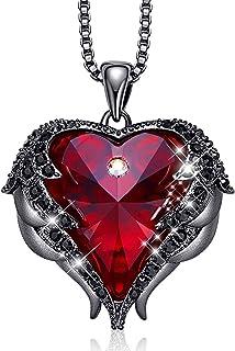 750 Gold pendientes corazones con rubin 7,3 mm 1 par y con circonita piedras