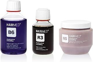 HAIRMED - Set Volumizzante per Capelli Fini Professionale - Shampoo B6, Maschera N5 e Siero Cheratina R3