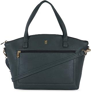 Baggit Spring-Summer 2021 Faux Leather Women's Satchel Handbag (Grey) (Zeep)