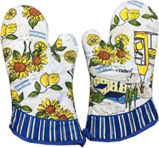 Dragon Troops 1 Pair of Extra Long Professional Heat Resistant Potholder Gloves - Oven Mitt, D
