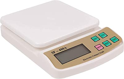 Dayons Electronic Digital Kitchen Scale Weight Machine (SF-400A Max. 10 kg x 1 gm Precision, Off White)
