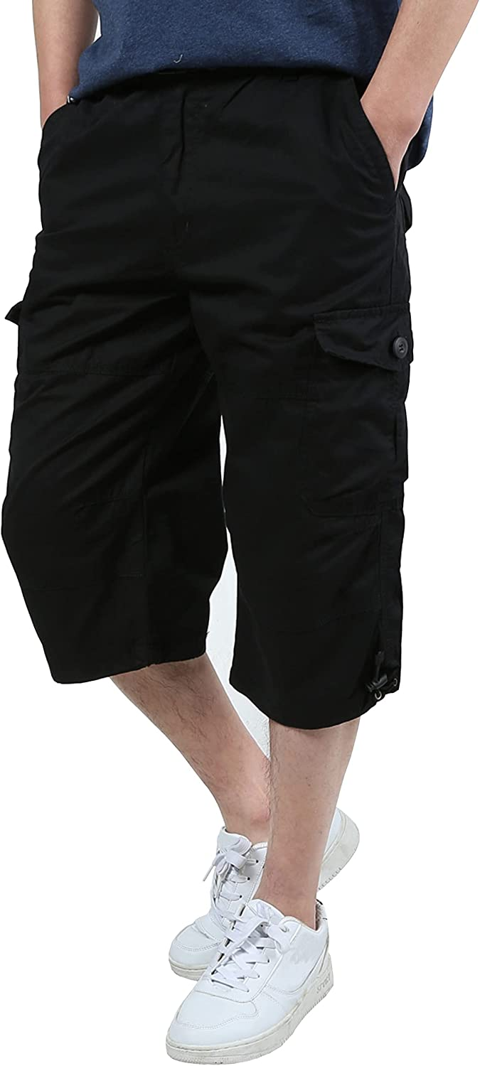 Limited time trial price Susclude Men's 3 Popular 4 Casual Light Cargo Twill Shorts Multi-Pockets
